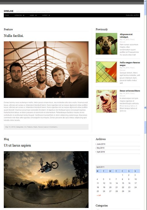 Graph Paper Press Gridline Magazine WordPress Theme