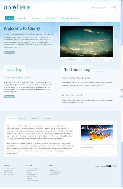 wootheme Cushy wordpress theme