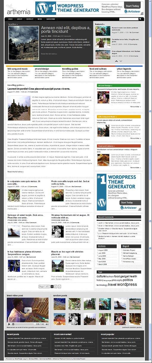Arthemia Premium magazine theme