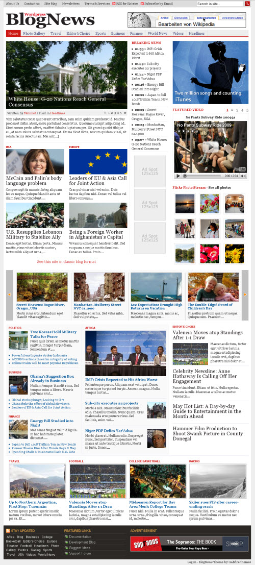 Gabfire BlogNews Multi-Purpose Magazine WordPress theme