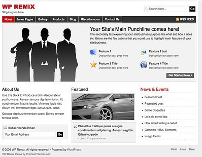 WP Remix  an advanced WordPress theme