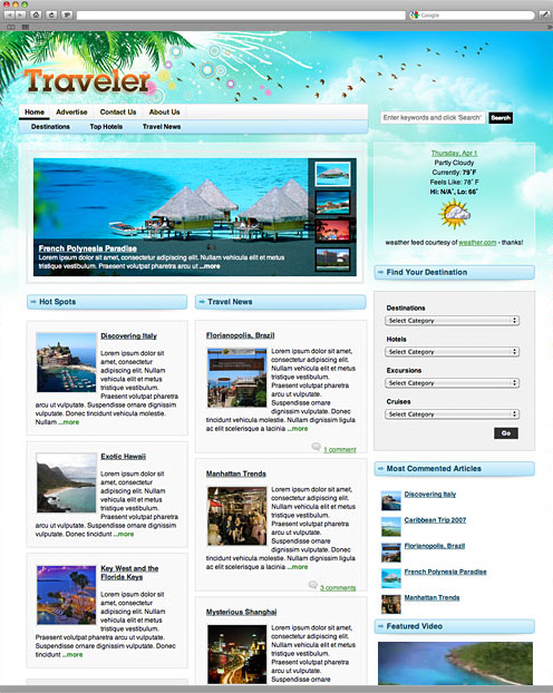 Traveler Magazine Theme