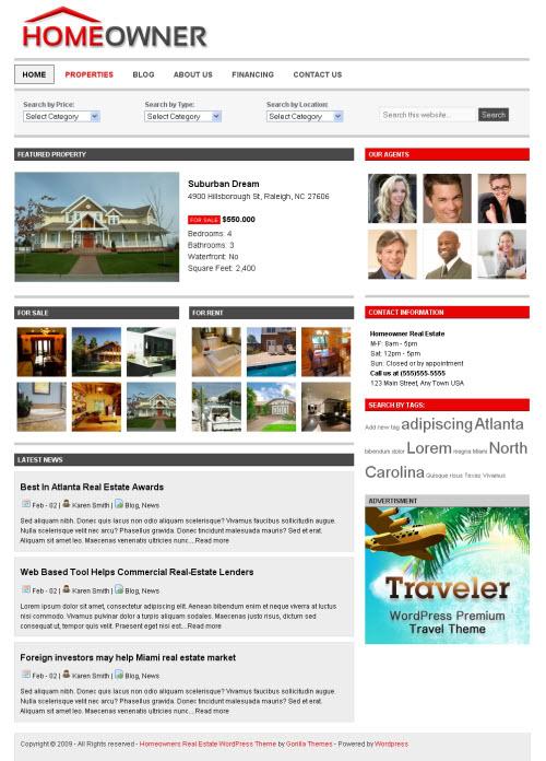 homeowner wordpress theme