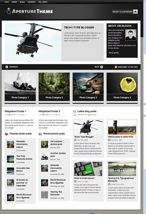 WooThemes Aperture WordPress Theme