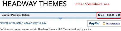 Headway themes Personal License Coupon
