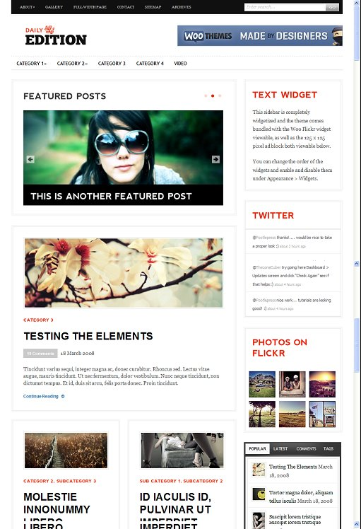 WooThemes Daily Edition WordPress Theme
