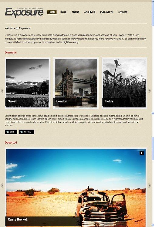 WooThemes Exposure WordPress Theme