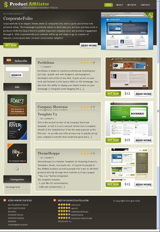 Product Affiliator WordPress Theme