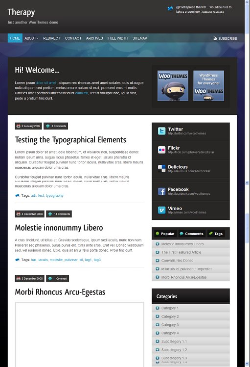 WooThemes Therapy WordPress Theme