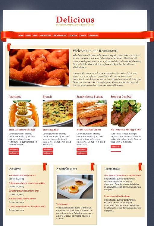 WPZOOM Delicious Premium Restaurants WordPress Theme