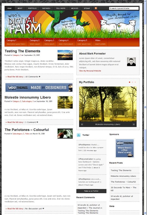 WooThemes Digital Farm WordPress Theme