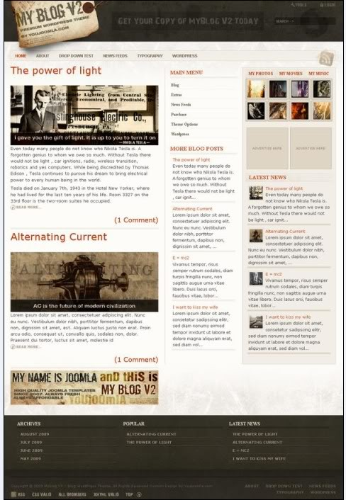 myblogv2 wordpress theme