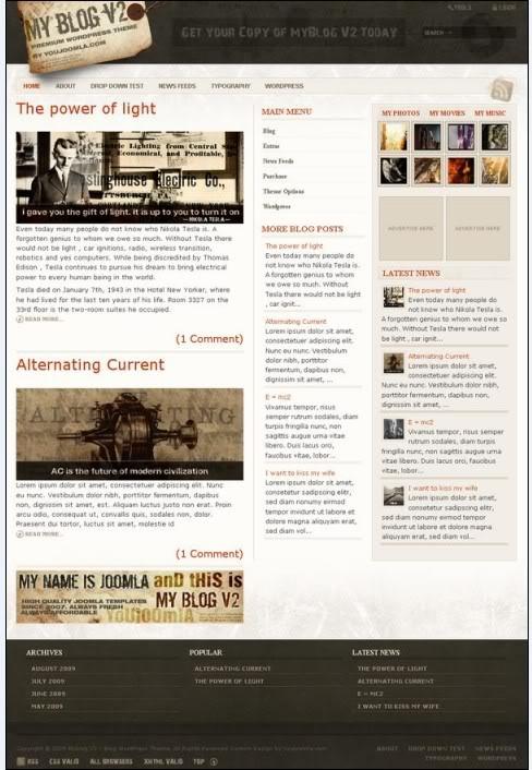 myblogv2 wordpress theme