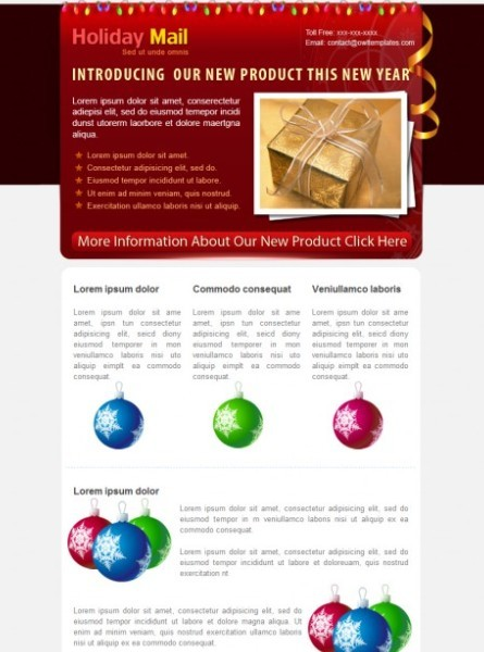 5 COLORs Holiday Email Template