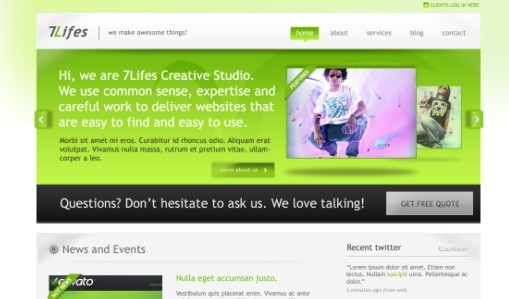 7Lifes Modern and Professional Psd Template