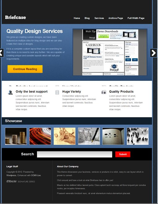 Obox Design Briefcase WordPress Theme