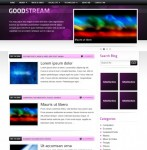 GoodStream Purple/ Black WordPress Theme