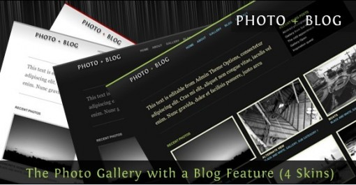 Photo + Blog Premium wordpress theme 4 in 1