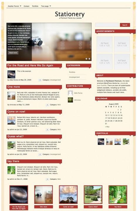 Stationery Premium WordPress Theme
