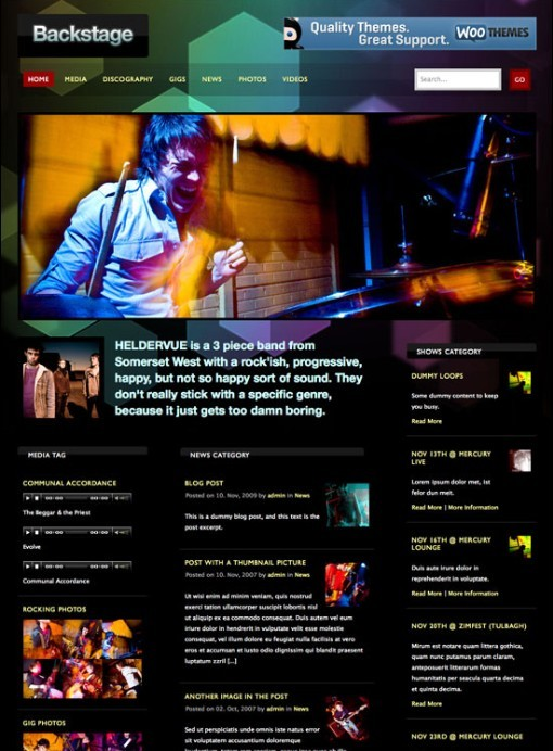 WooThemes Backstage WordPress Theme