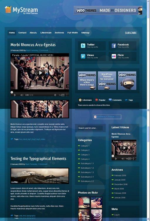 WooThemes MyStream WordPress Theme