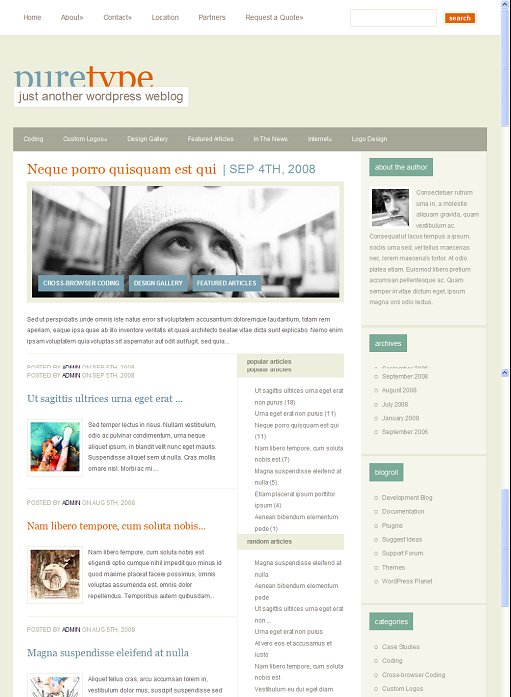 Elegant Themes PureType WordPress Theme