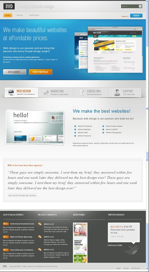 ThemeSnap Business Portfolio drupal theme
