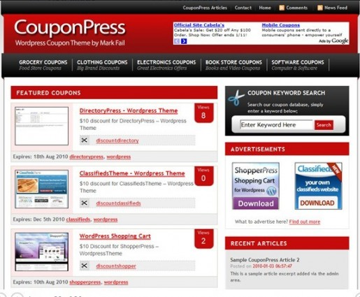 CouponPress theme