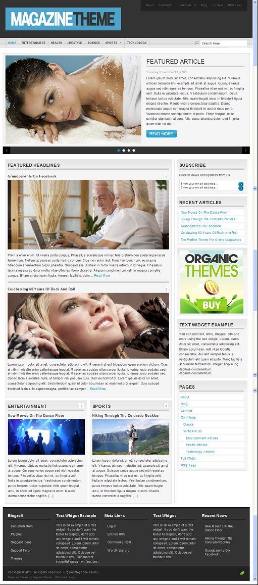 Organic Magazine Theme