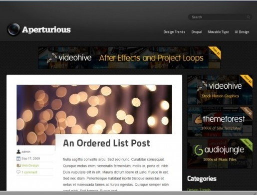Upthemes Aperturious WordPress Theme
