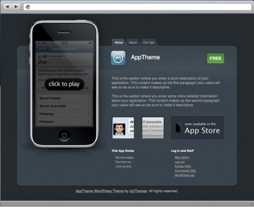UpThemes AppTheme wordpress theme