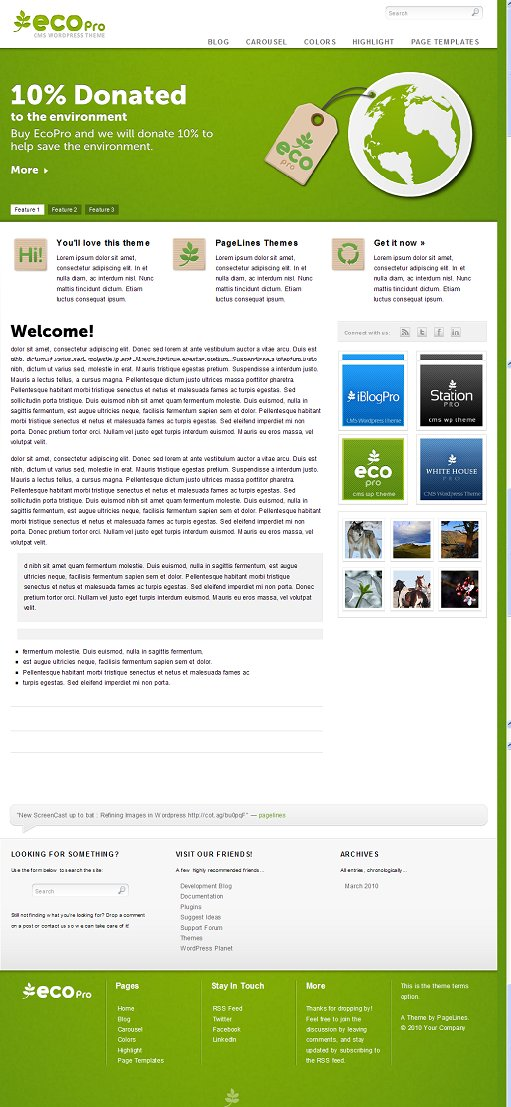 PageLines EcoPro WordPress Theme