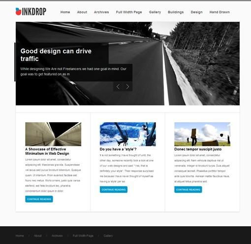 Obox Design InkDrop WordPress Theme