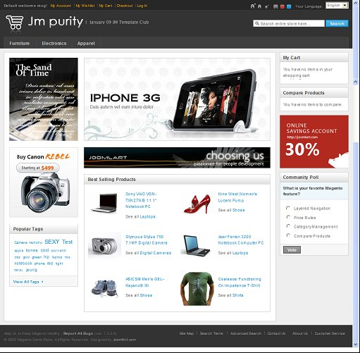 JM Purity Magento theme