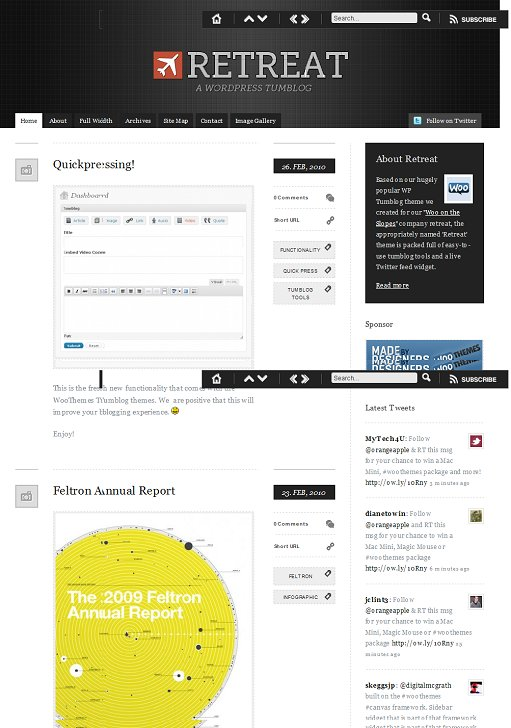 WooThemes Retreat WordPress tumblog theme