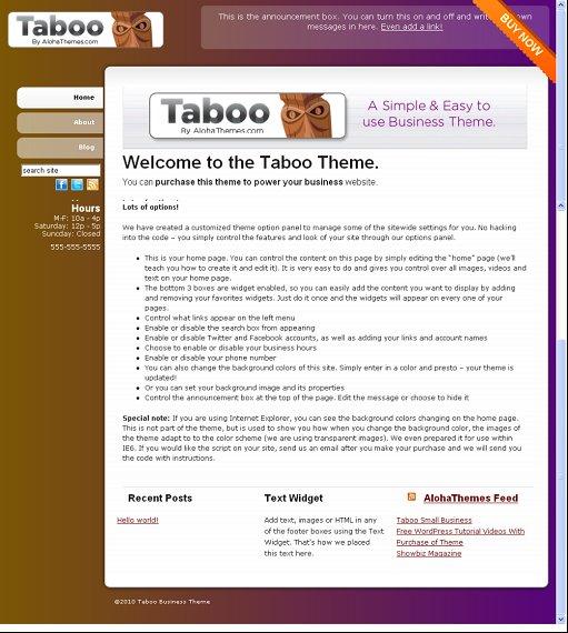 Aloha Themes Taboo theme