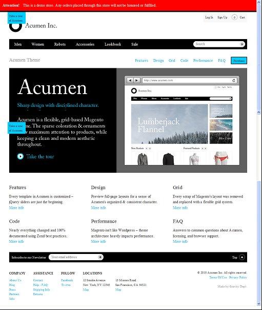 Acumen Magento theme