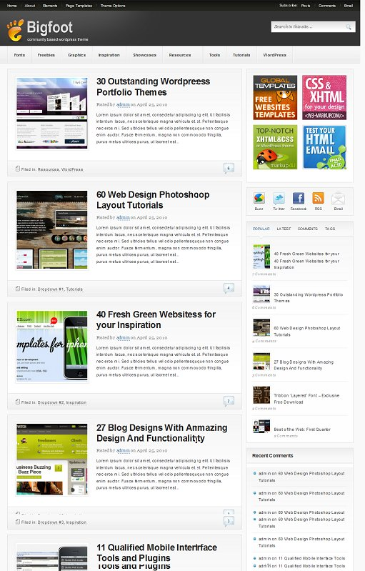 Bigfoot WordPress Community Theme