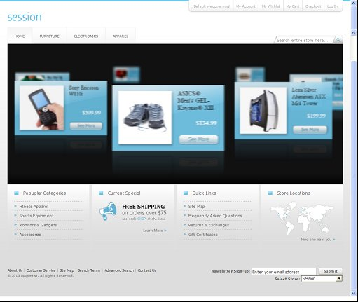 Blue Session Magento Theme