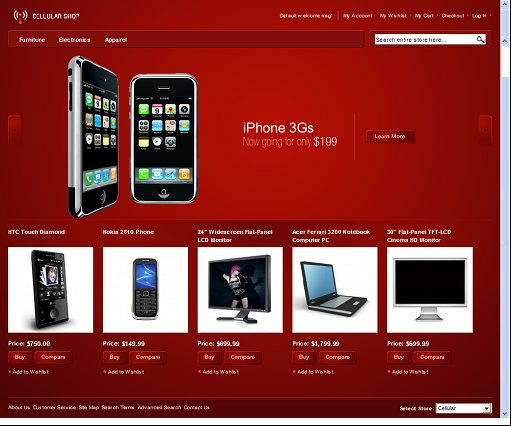 Cellular Store Magento Theme