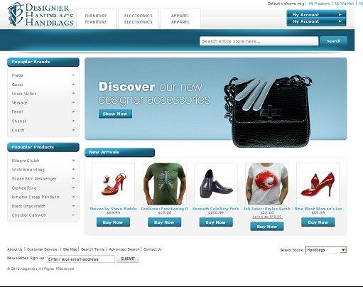 Designer Handbags Magento Theme
