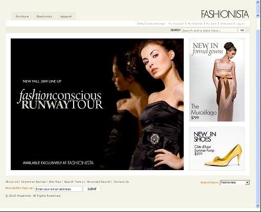 Fashionista Magento Theme