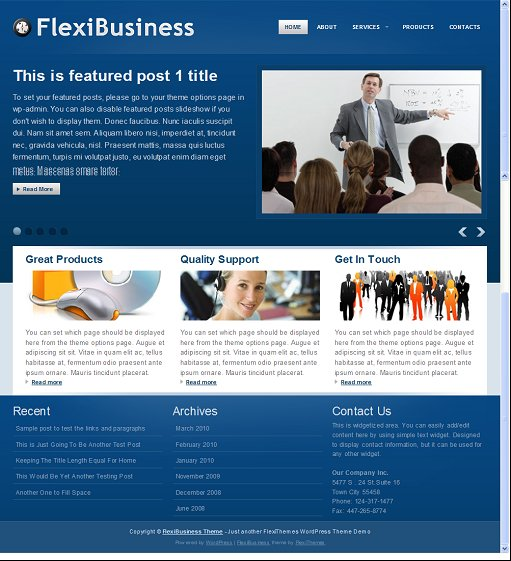 FlexiBusiness WordPress Theme
