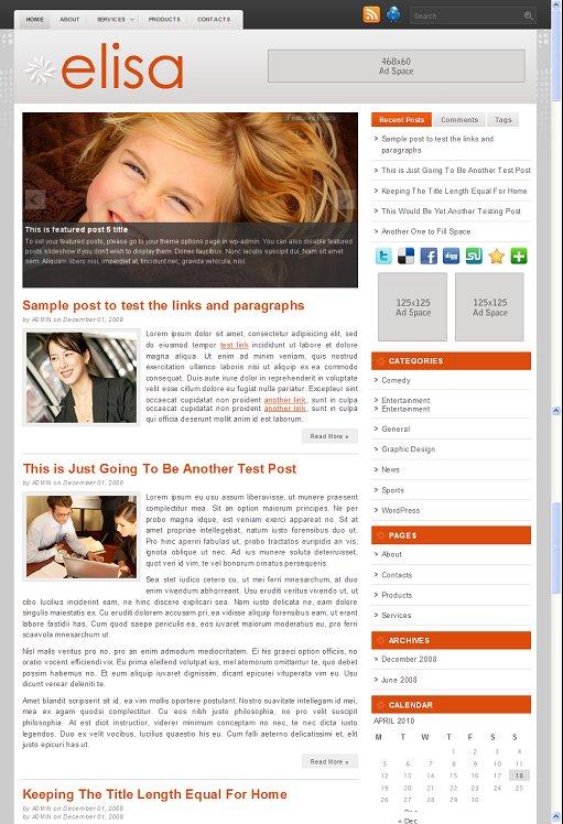 Elisa WordPress Theme