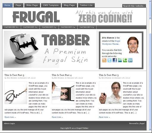Frugal Theme tabbler