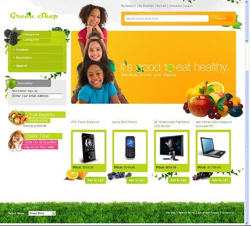 Green Shop Magento Theme