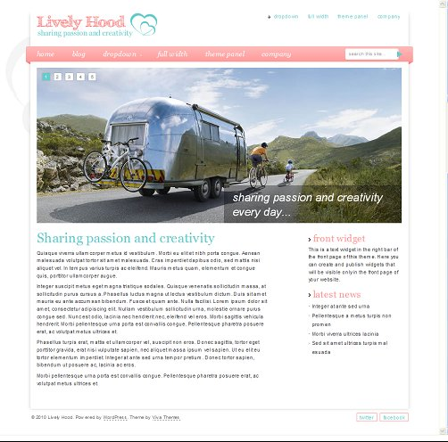 Lively Hood WordPress Theme