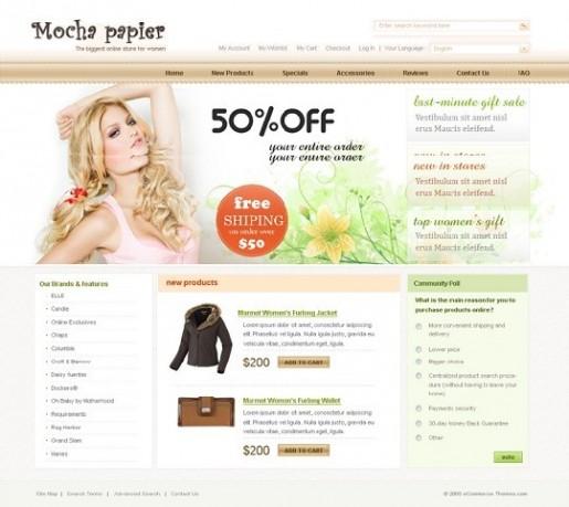 Mocha Papier Magento Theme