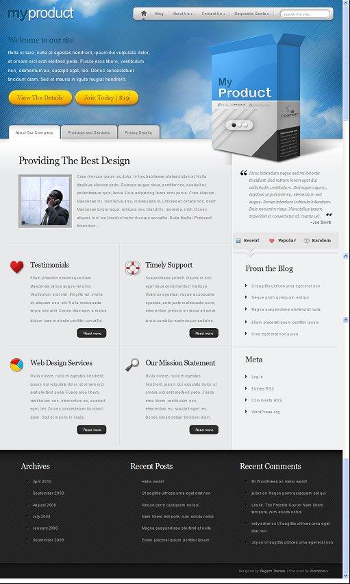 MyProducts WordPress Theme