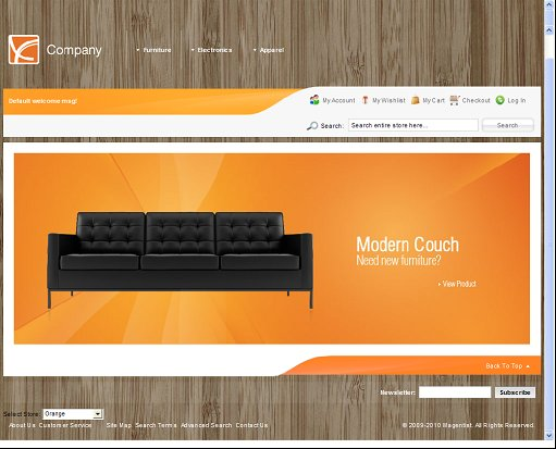 Orange Furniture Magento Theme